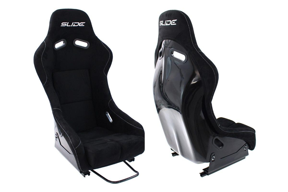 Fotel sportowy SLIDE RS zamsz Black M - GRUBYGARAGE - Sklep Tuningowy